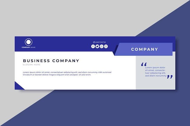 Business twitter header design