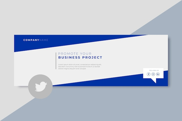 Business twitter header template