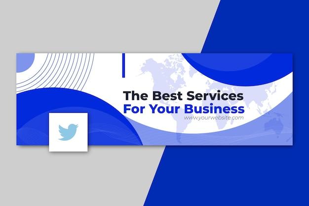 Business twitter header template
