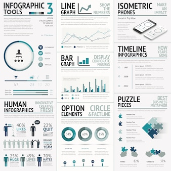 Business vector elements for data visualization infographics