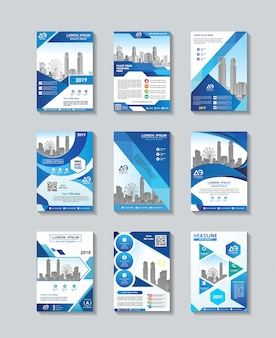 Business vector flyer template set design