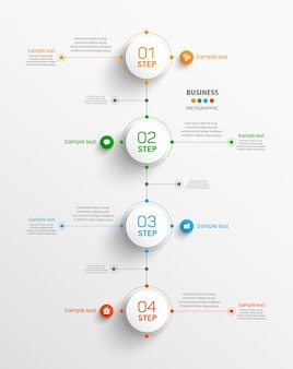 Business vector  infographic template with 4 steps
