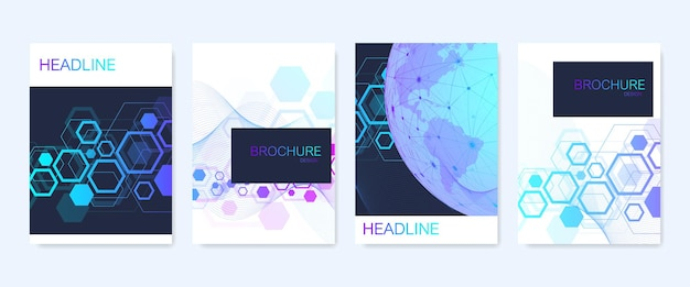 Business vector templates for brochure, cover, banner, flyer, annual report