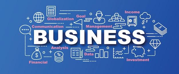 Business vector trendy banner