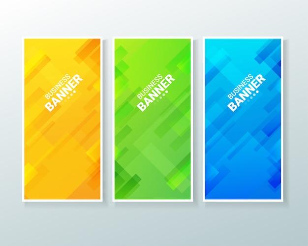 Business vertical banner background design