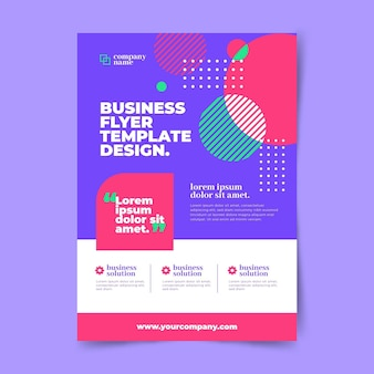 Business vertical poster template