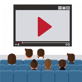 Business video presentation