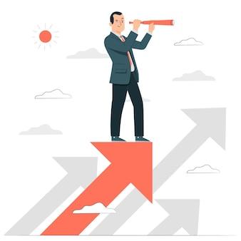 Business vision concept illustration