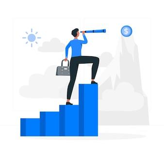 Иллюстрация концепции бизнес-видения
