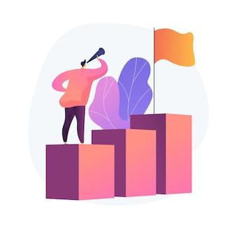 Visione aziendale, previsione e previsione. monitoraggio delle opportunità di carriera. lavoro, ricerca di prospettive, pianificazione strategica. leadership e motivazione.