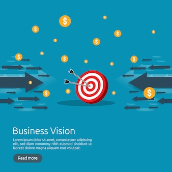 Business vision strategy concept