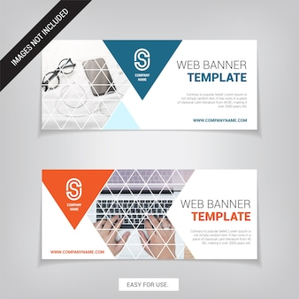 Business Web banner design template. Easy for use.