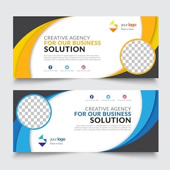 Business web banner design template