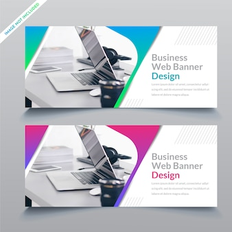 Business web banner template