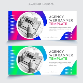 Business web banners template
