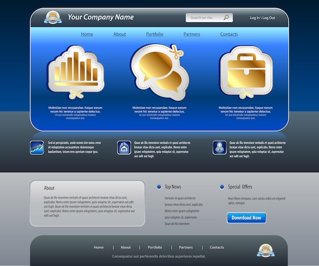 ビジネスウェブサイトテンプレート