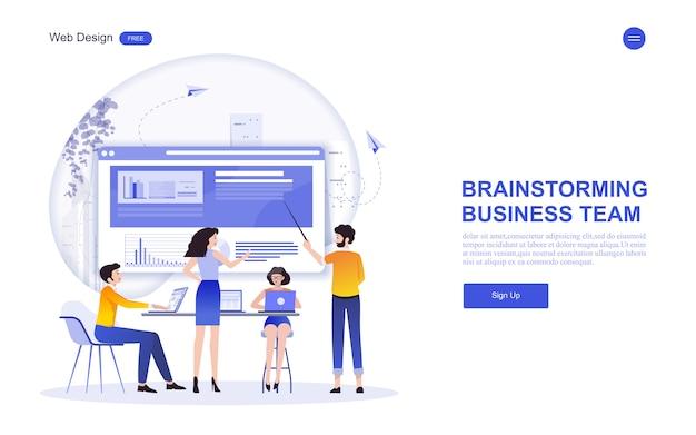 マーケティング、分析、チームワークのためのビジネスwebテンプレート