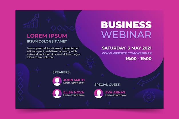 Business webinar banner invitation template