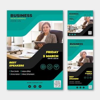 Business webinar concept template