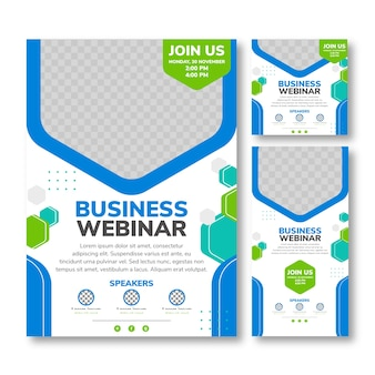 Business webinar flyer print template