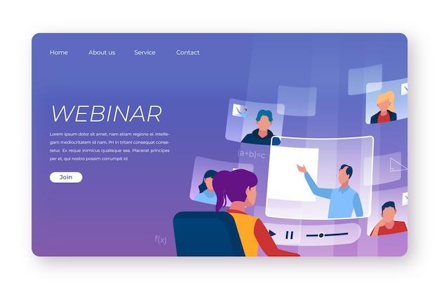 Целевая страница онлайн-конференции для бизнес-вебинаров