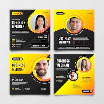 Business webinar template instagram post