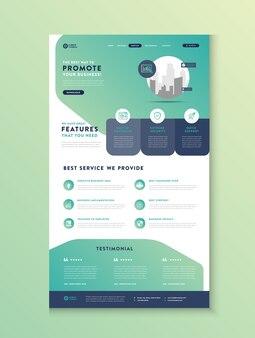 Целевая страница бизнес-сайта, целевая страница приложения, дизайн веб-интерфейса пользователя