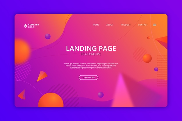 Business website landing page template
