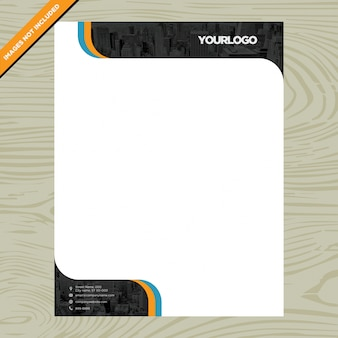 Business white paper brochure with logo