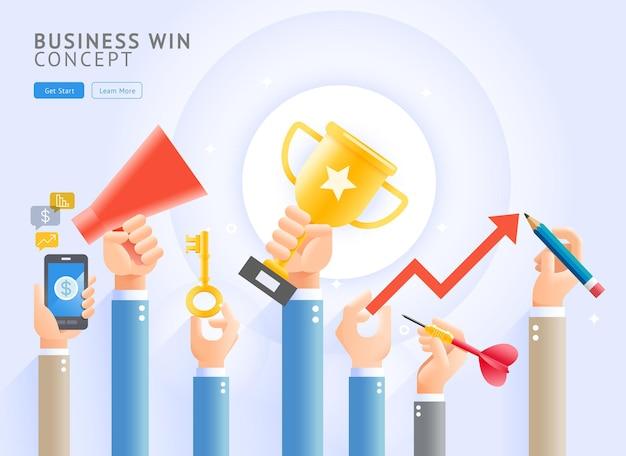Business win conceptual.