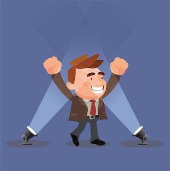 Вектор концепции подиума победителя бизнеса