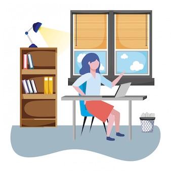 Business woman avatar of cartoon
