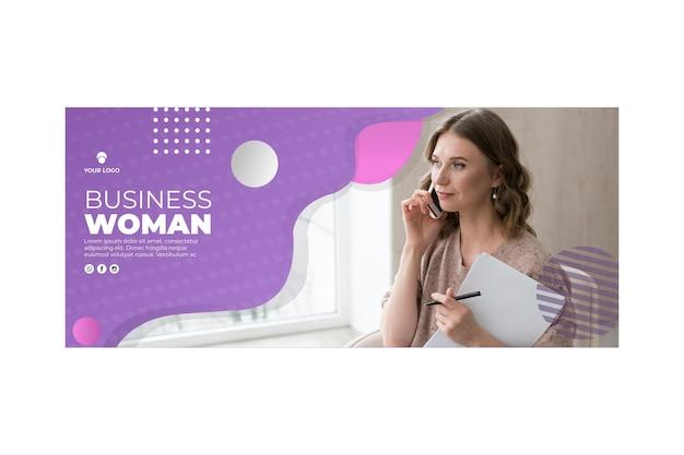 Business woman banner template