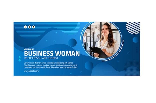 비즈니스 여성 배너 서식 파일
