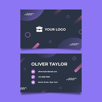 Business woman business card template