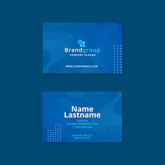Шаблон визитной карточки деловой женщины