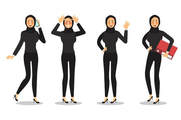 Business woman character design.