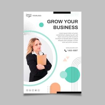 Business woman flyer template