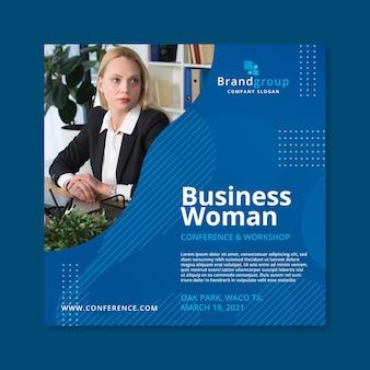 Modello di volantino donna d'affari