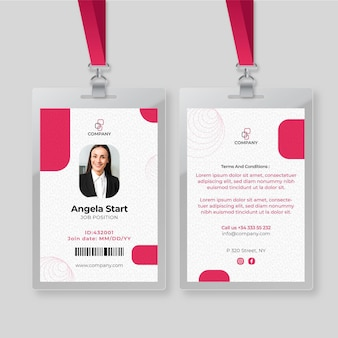 Business woman id card template