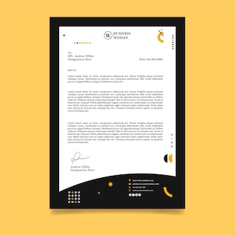 Business woman letterhead template