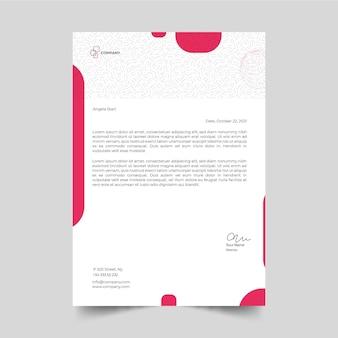 비즈니스 여자 편지지 서식 파일