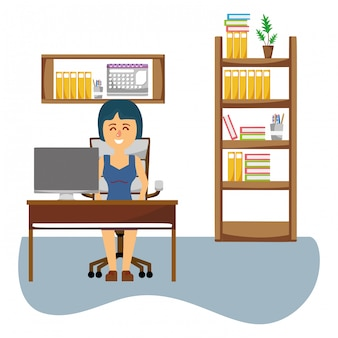 Business woman at office