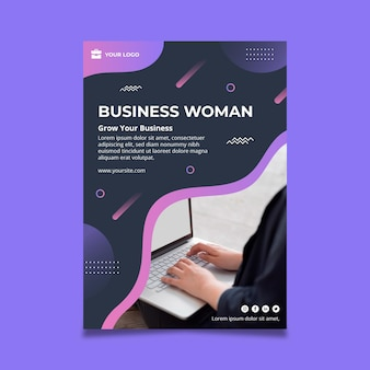 Business woman poster template