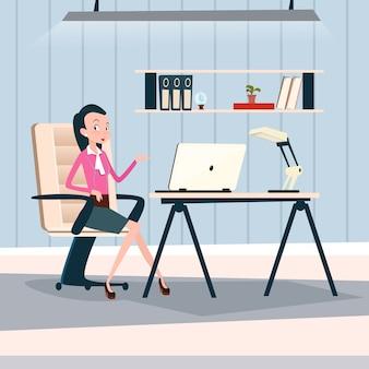 ビジネスマン、机、ワーキング、ノートパソコン