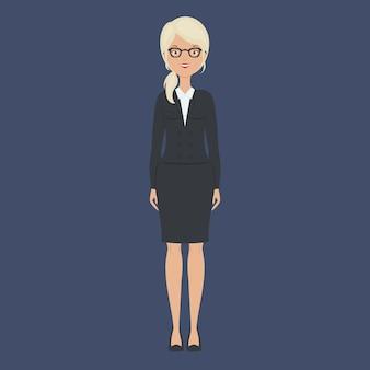 Business woman staying alone