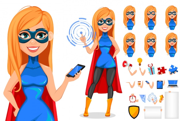 Business woman superhero