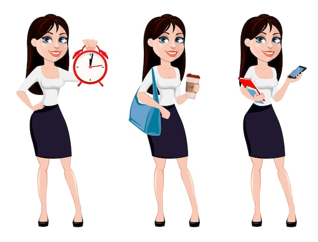 Business woman with brown hair