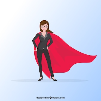 Business woman with red cape