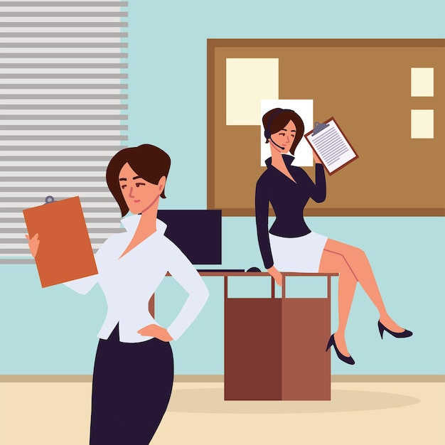 Business women assistants